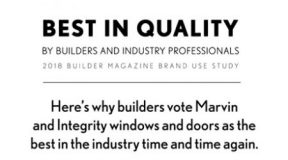 Builders Vote Marvin Best in Quality