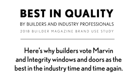 Builders Vote Marvin and Integrity Best in Quality
