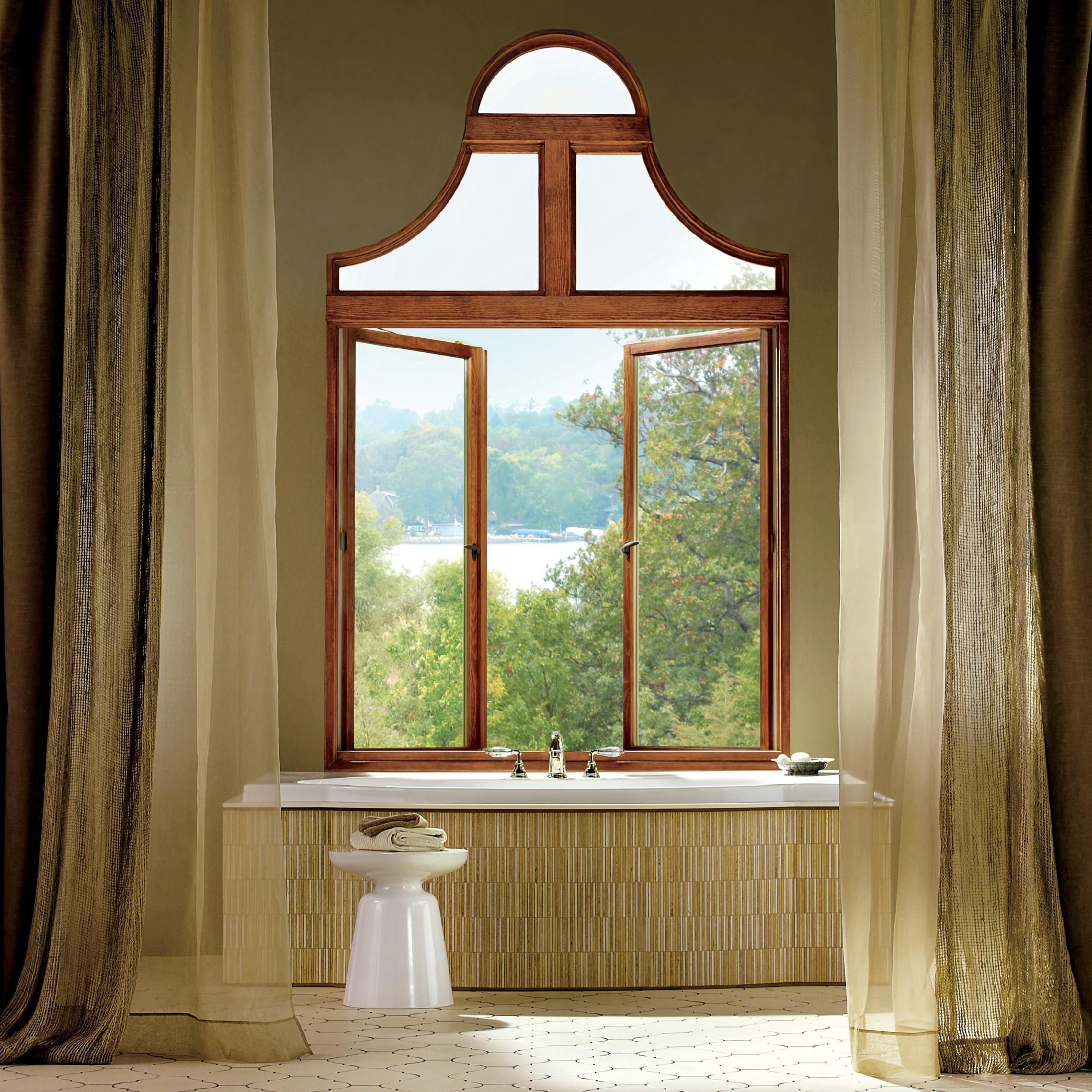 Casement windows in bedroom
