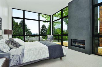 Integrity Ultrex casement windows in bedroom