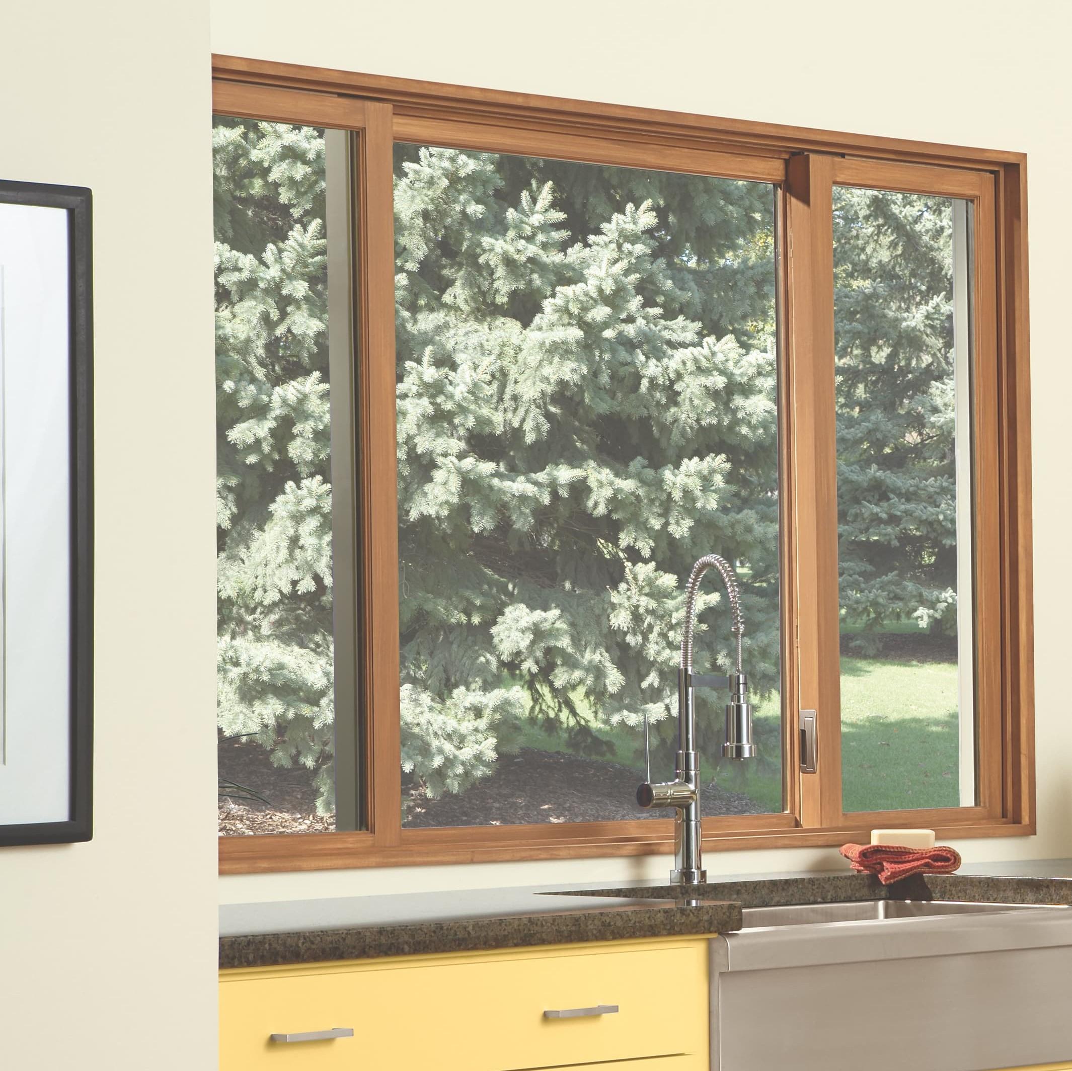 Glider/sliding window in kitchen