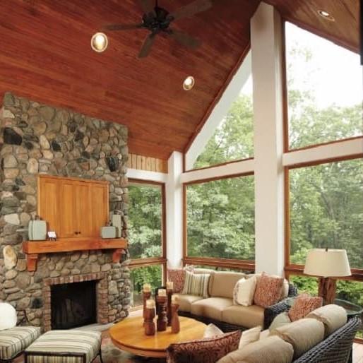 Special shape windows in cabin