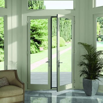French doors leading to patio