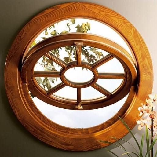 Round pivot window