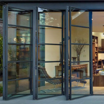Thermal steel Arcadia doors in a Seattle home