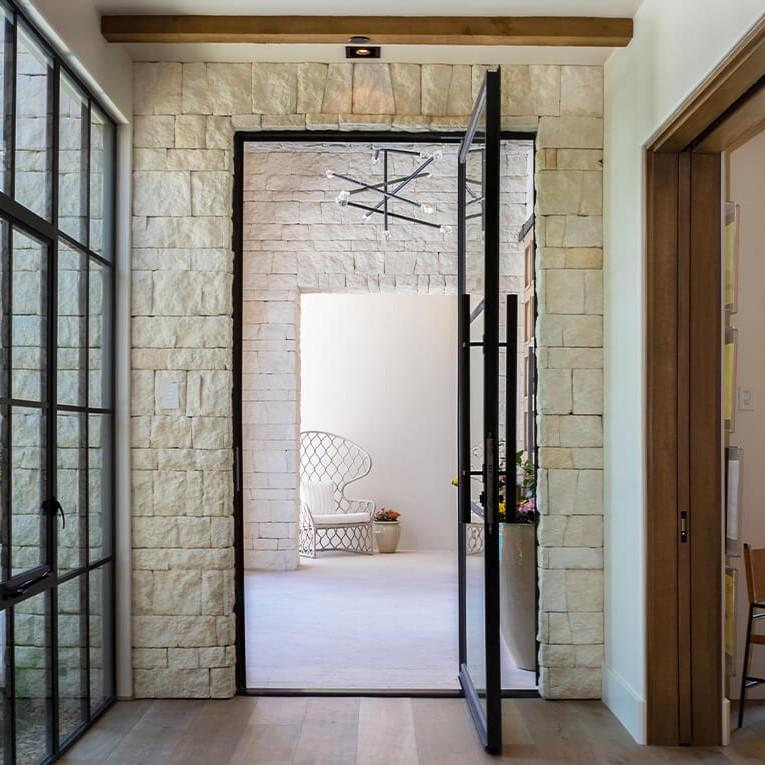 Arcadia pivot doors