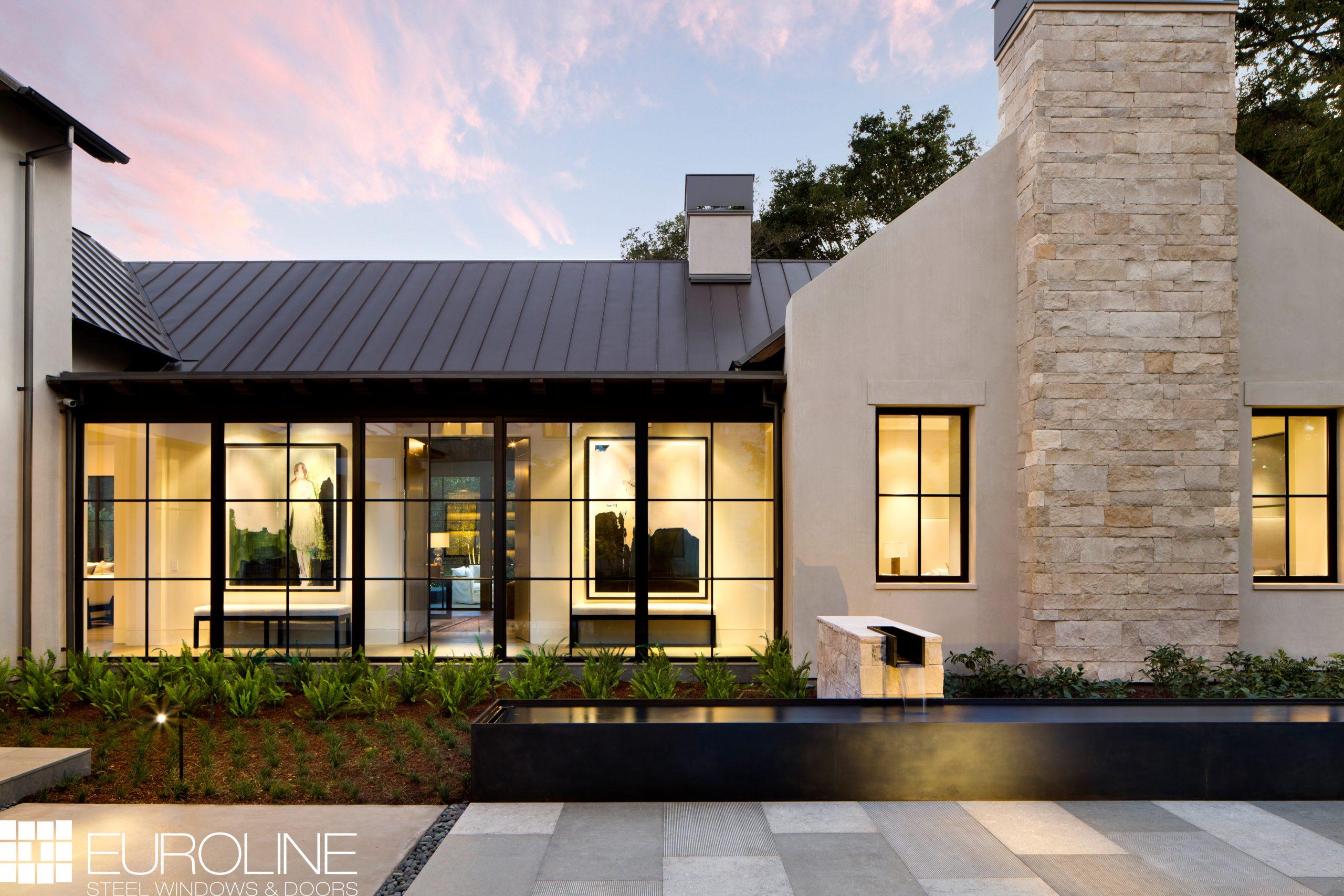 Modern home with EuroLine windows